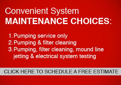 Convenient Septic System Maintenance Choices. Click here to schedule a free estimate