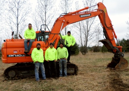 Litchfield Crew for A%T Septic and Excavating